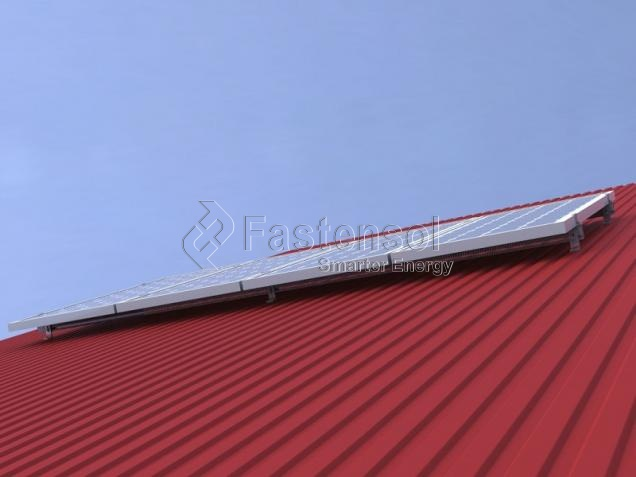 Pitched Tin Roof Solar Mounting System